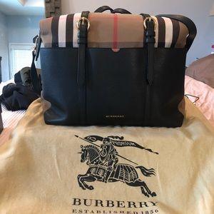 Burberry mason diaper bag tote